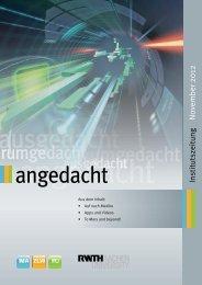 aktuelle Ausgabe (PDF) - IMA,ZLW & IfU - RWTH Aachen University