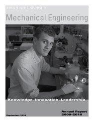 2009–2010 - Mechanical Engineering - Iowa State University