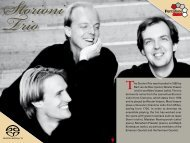 The Storioni Trio was founded in 1995 by Bart van de ... - PentaTone