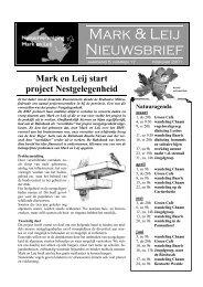 Mark en Leij start project Nestgelegenheid - natuurvereniging MARK ...