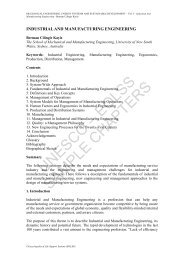 Industrial And Manufacturing Engineering - eolss