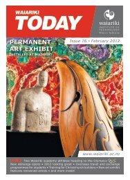 Permanent art exhibit - Waiariki Institute of Technology