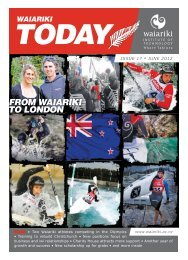 Issue 17 • June 2012 - Waiariki Institute of Technology