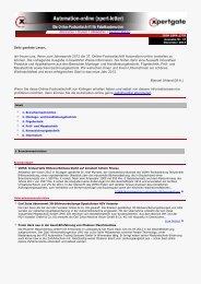 Online-Fachzeitschrift Automation-online - Xpertgate GmbH & Co. KG