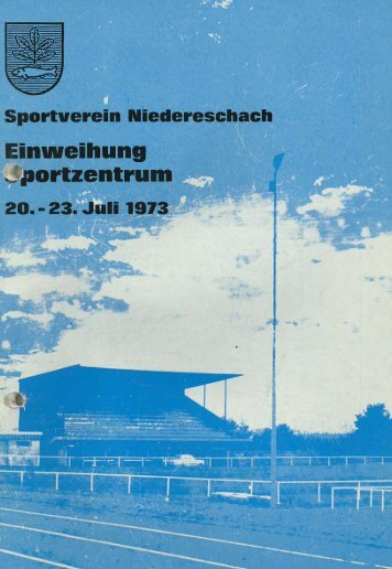 SVN aktuell 20.07.1973 - Sportverein Niedereschach eV