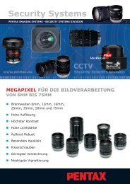 Technische Daten - Security Systems - Pentax