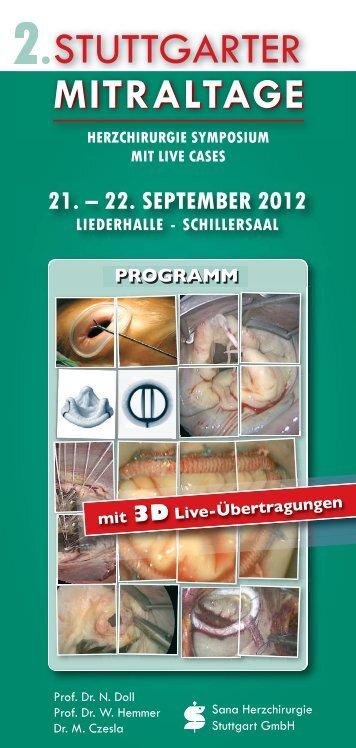 21. – 22. september 2012 - Stuttgarter Mitraltage