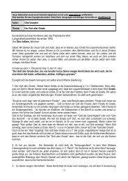 - 1 - Autor: Otto Vosseler Thema: Der Gott aller Gnade ... - Kahal.De