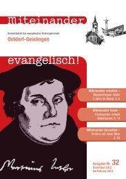 Nr. 32: Dezember 2012 - Februar 2013 - Evangelische ...