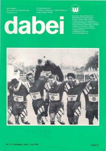 Abteilungen berichten - VfL Wolfsburg