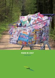 RSDB IN 2007 - RSDB NV