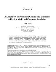 A Lab on Population Genetics and Evolution - Association for ...