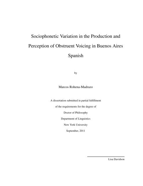 Sociophonetic Variation In The Production And Perception Of