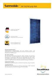 SW 130/140 poly R6A - SolarWorld AG