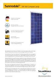 SW 160 Compact poly - SolarWorld AG