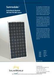 SolarWorld Module SW 165/175/185 mono - Wholesale Solar