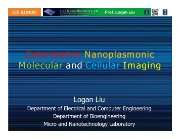 Colorimetric Nanoplasmonic Molecular and Cellular Imaging