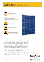 SW 196 Vario poly - SolarWorld AG