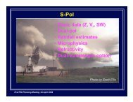 • Basic data (Z, V , SW) • Dual-pol • Rainfall estimates ... - eol