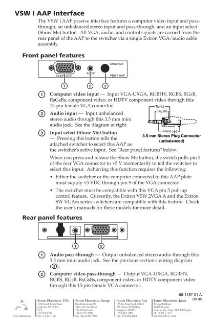 VSW I AAP card_2.indd - Camboard Electronics Vga To Component Wiring Diagram on vga pinout diagram, vga cable pinout, vga pin diagram, vga to s-video diagram, hdmi to vga circuit diagram, component connector diagram, vga to component pin, vga connection diagram, vga connector diagram, vga cable schematic diagram, vga adapter wiring diagram, vga to rca cable diagram,