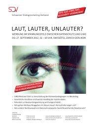 laut, lauter, unlauter? - VSV - Verband des Schweizerischen ...
