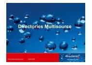 Directories Multisource - VSV - Verband des Schweizerischen ...