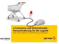 e-Commerce und Distanzhandel - Herausforderung ... - MediService