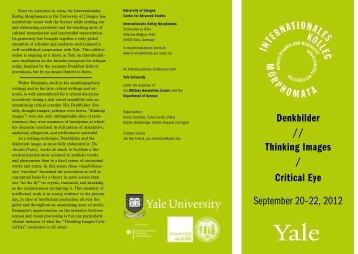 Denkbilder // Thinking Images / Critical Eye September 20–22, 2012