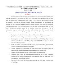 NAAC–Accreditation III Cycle–Self Study Report - vhnsnc