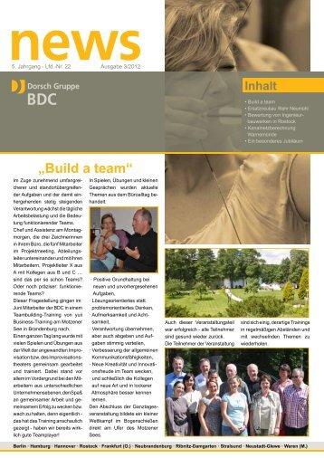 """Build a team"" - Dorsch Gruppe BDC"