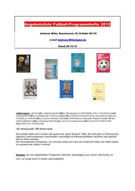 Programm 2000//01 FSV Lok Altmark Stendal Te Be Berlin II