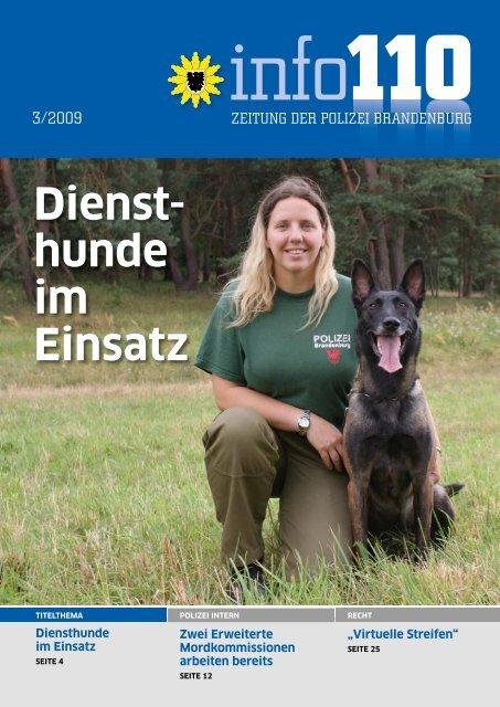 info 110 Ausgabe 03/2009 - Polizei Brandenburg - Brandenburg.de