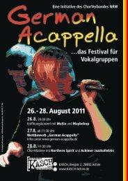 26. - 28. August 2011 - German-Acappella