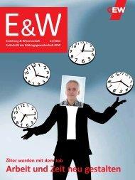 Arbeit und Zeit neu gestalten - GEW