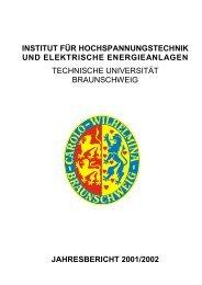 INSTITUT FÜR HOCHSPANNUNGSTECHNIK UND ELEKTRISCHE ...