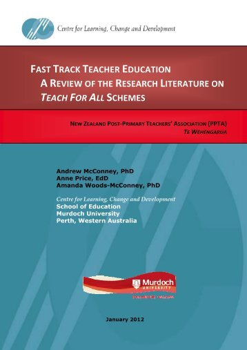 Fast track teacher education: A review of the research ... - PPTA