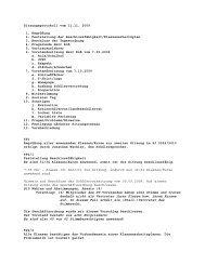Sitzungsprotokoll vom 11.11. 2009 1. Begrüßung 2. Feststellung der ...