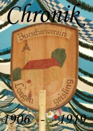 Chronik 1906 - 1919 - Burschenverein Eintracht Langengeisling