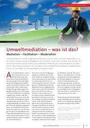 Umweltmediation - Pro Re · Projektkoordination und Mediation