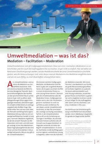Umweltmediation - Pro Re · Projektkoordination und Mediation