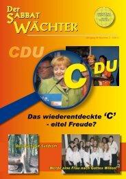 ÄCHTER - Reformierte Siebenten-Tags-Adventisten in Österreich