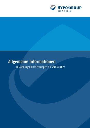 Allgemeine Informationen zu ... - Hypo Alpe-Adria-Bank AG