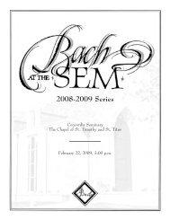 2008-2009 Series - Concordia Seminary