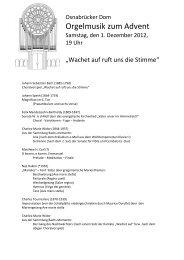 Orgelmusik zum Advent - Bistum Osnabrück
