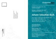 Johann Sebastian Bach - Oratorienchor Winterthur