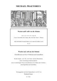 Wachet auff/ rufft vns die Stimme - Michael Praetorius