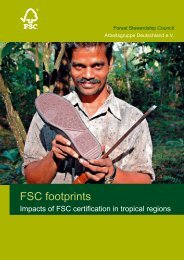 FSC footprints - FSC - Forest Stewardship Council