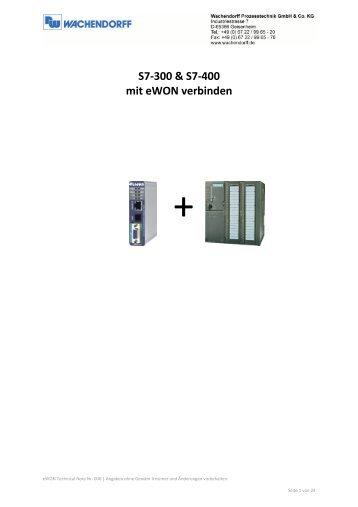 S7-300 & S7-400 mit eWON verbinden