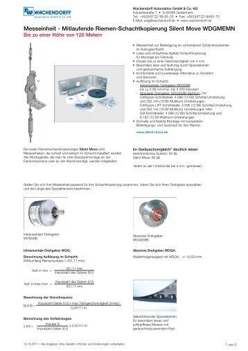 Datenblatt (PDF 116 KB) - Wachendorff Automation Drehgeber