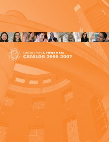 CATALOG 2006-2007 - Syracuse University College of Law